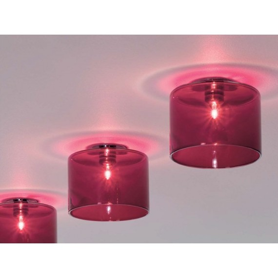 Spillray ceiling lamp S Axo red color side view