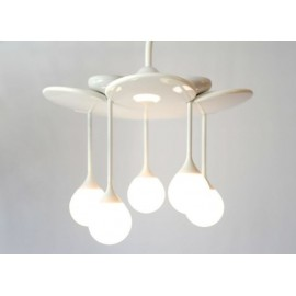 Drop ceiling lamp Ingo Maurer white color front view