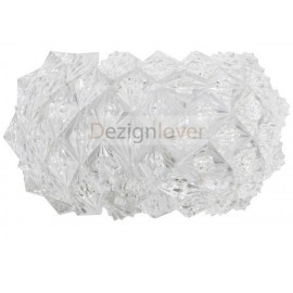 Diamond wall lamp transparent color front view