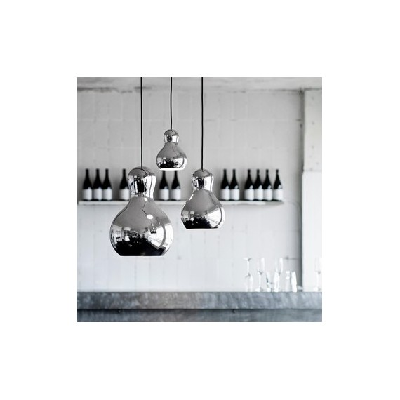 Calabash pendant lamp Light years silver color S / M / L in dining room