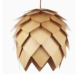 Crimean Pinecone pendant lamp Arturo Alvarez natural color front view