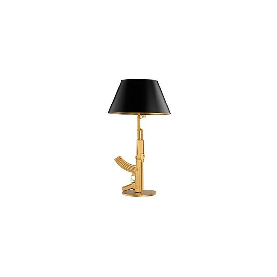 Gun table lamp Flos gold or black color front view