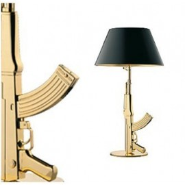 Gun table lamp Flos gold or black color with detail