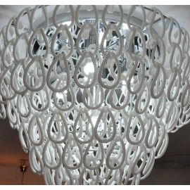 Giogali ceiling lamp Vistosi white color side view