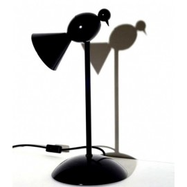 Alouette table lamp Blu Dot black color front view