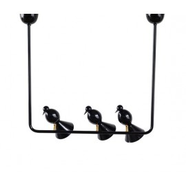 Alouette pendant lamp Atelier Areti black color 3 lights front view