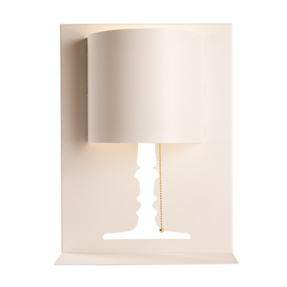 Kate design wall lamp Delta light white color front view