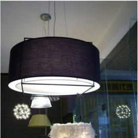 Lewit pendant lamp Metalarte black color with detail