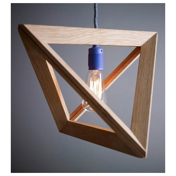 LAMPFRAME pendant lamp Kevin Reilly Lighting natural color 1 light with detail