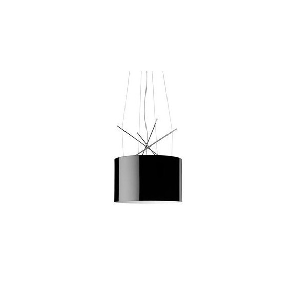 Ray S pendant lamp Flos black lampshade front view