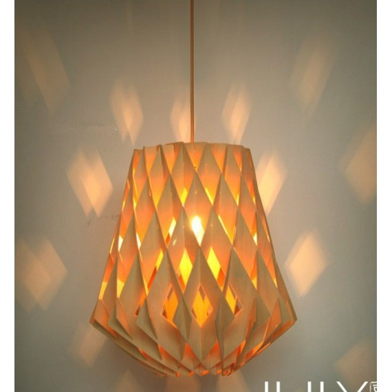 Pilke pendant lamp Showroom Finland Oy natural color Diam 36cm front view