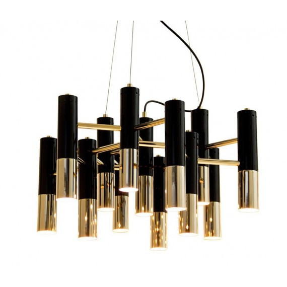 IKE pendant lamp gold / black color front view