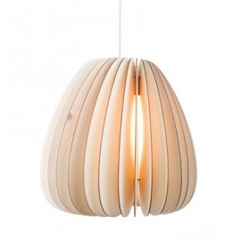 Volum wood pendant lamp Kevin Reilly Lighting natural color front view