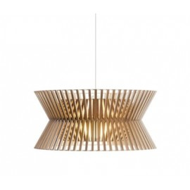Secto KONTRO 6000 pendant lamp Secto Design natural wood color front view