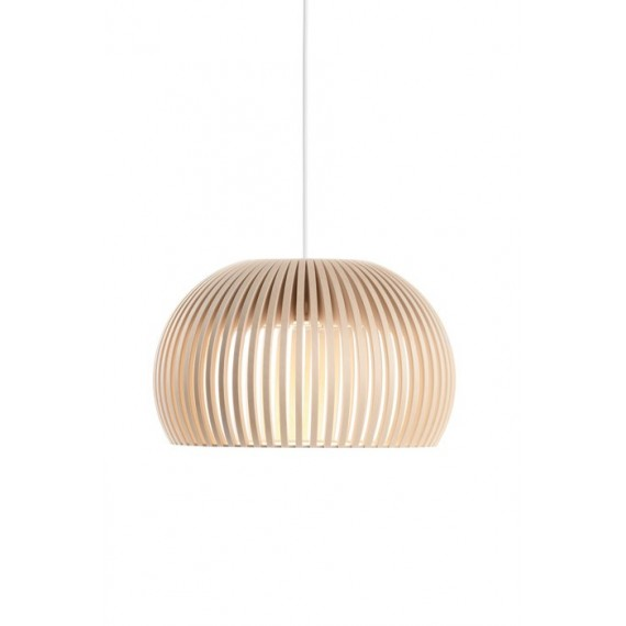 Secto Atto 5000 pendant lamp Secto Design natural wood color front view