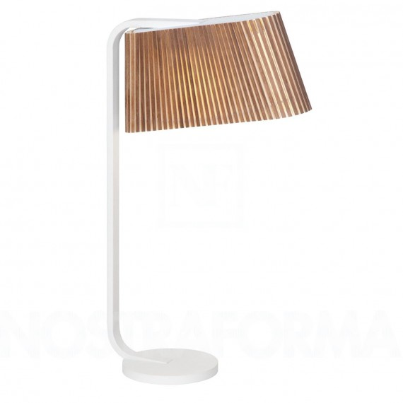 Secto OWALO 7020 table lamp Secto Design natural wood color front view