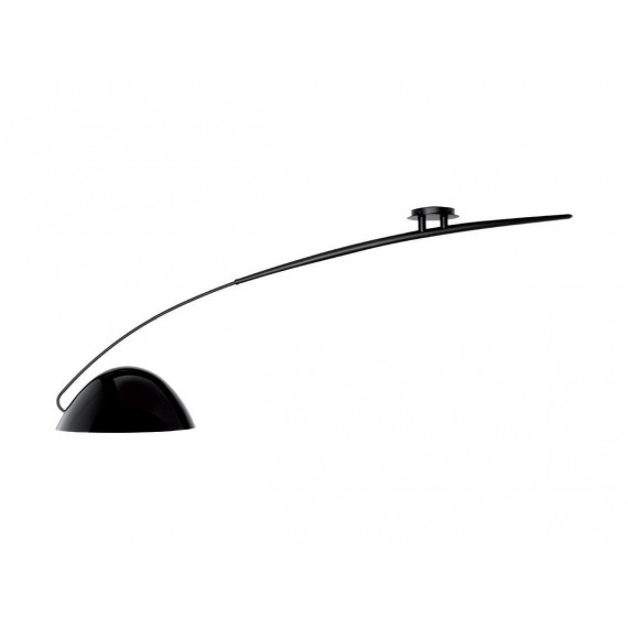 Pluma ceiling Lamp Estiluz black color front view