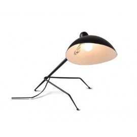 Serge Mouille MCL tripod table lamp Serge Mouille black color front view