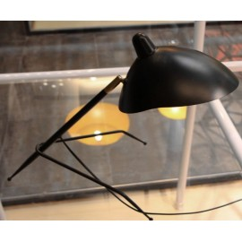 Serge Mouille MCL tripod table lamp Serge Mouille black color back view
