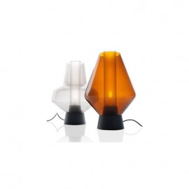 Metal glass table lamp Diesel with Foscarini transparent color / amber color Model A / Model B side view