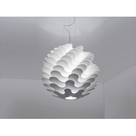 Libera pendant lamp Zaneen white color S front view
