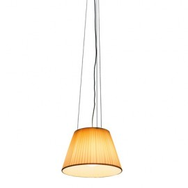 Romeo Soft pendant lamp Flos yellow lampshade front view