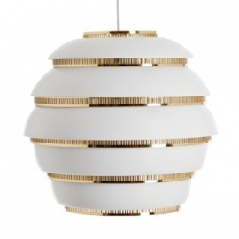 A331 Beehive Pendant Lamp in white Artek front view