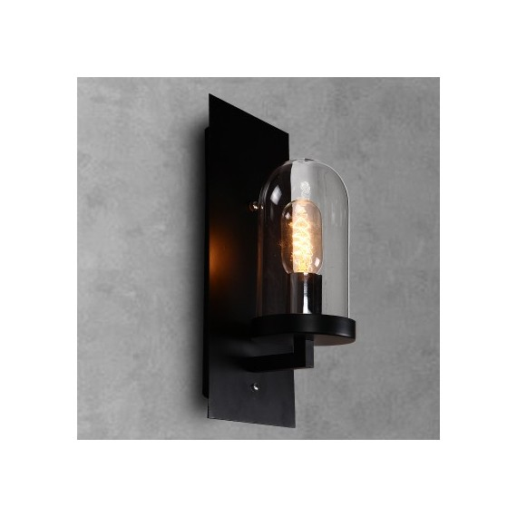 Industrial Dome Loft wall lamp Dezignlover black color front view