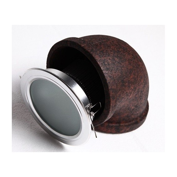 Industrial Iron Big Pipe LED wall lamp Dezignlover rusty color side view