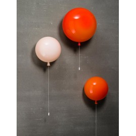 Memory Balloon wall Lamp Brokis white color / yellow color / orange color Diam 25cm / Diam 30cm / Diam 35cm front view