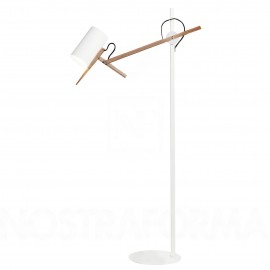 Scantling floor lamp Marset white color