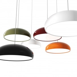 Pangen pendant lamp FontanaArte white color / black color / orange color / purple color front view