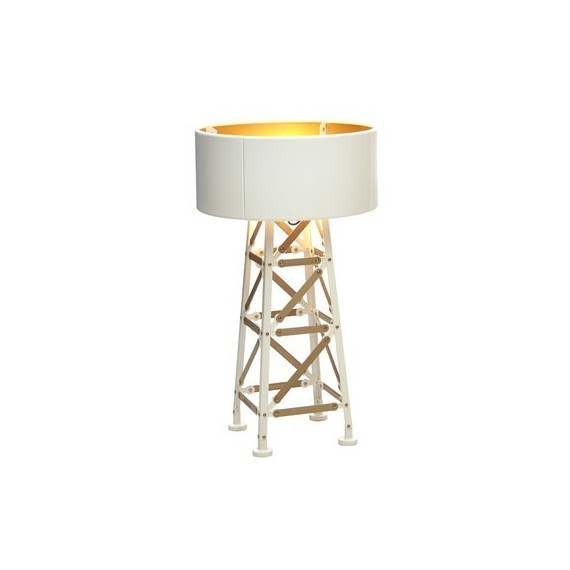Construction table lamp Moooi white color front view