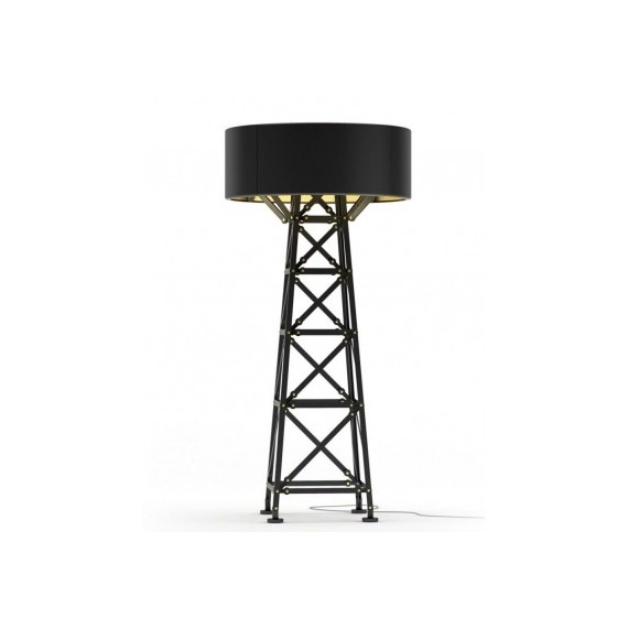 Construction floor lamp Moooi black color front view