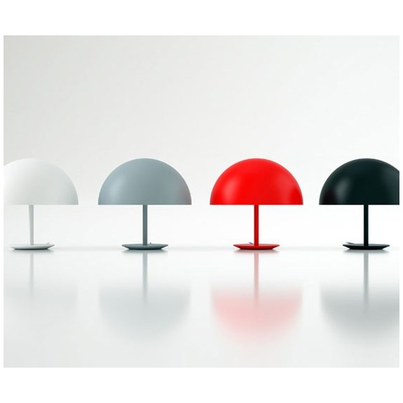 Dome table lamp MATER black color / white color / red color / grey color S side view