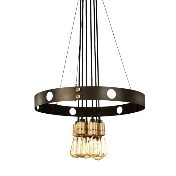 Hero Chandelier Buster + Punch black color front view