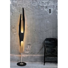 COLTRANE LED floor lamp Delightfull black color side view