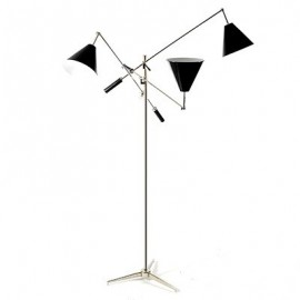 Sinatra floor lamp Delightfull black color front view