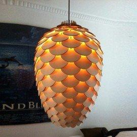Pinecone pendant lamp natural color L front view