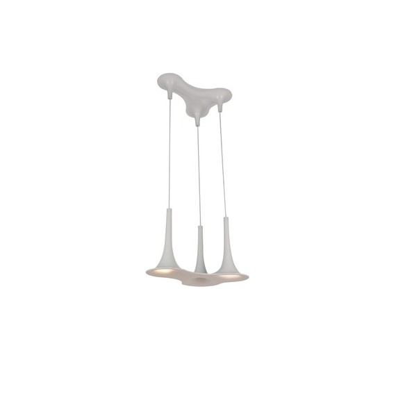 Nafir 3 pendant lamp Axo white color front view