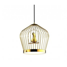Twee T LED pendant lamp Casamania gold color front view