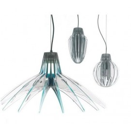 Agave pendant lamp Luceplan blue color Diam 70cm / transparent color Diam 17cm / 26cm