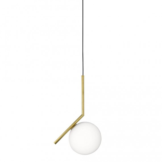 IC pendant lamp Flos gold color front view