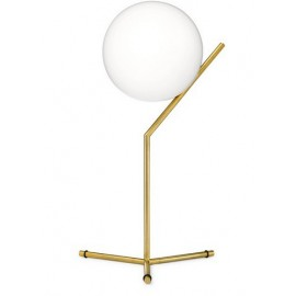 IC style LED table lamp Flos gold color T1 high front view