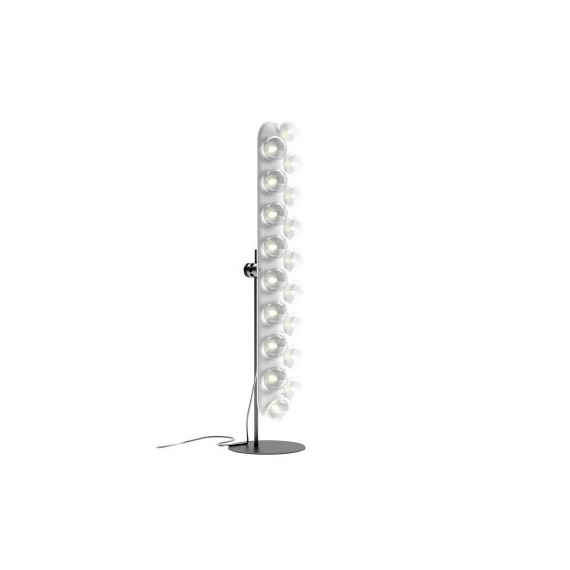 Prop LED floor lamp straight Moooi white color front view
