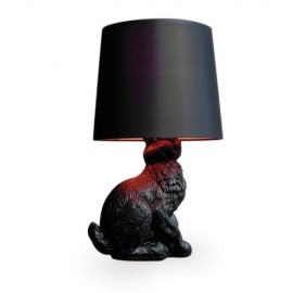 Rabbit table lamp Moooi black color front view