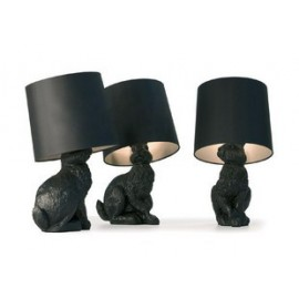 Rabbit table lamp Moooi black color
