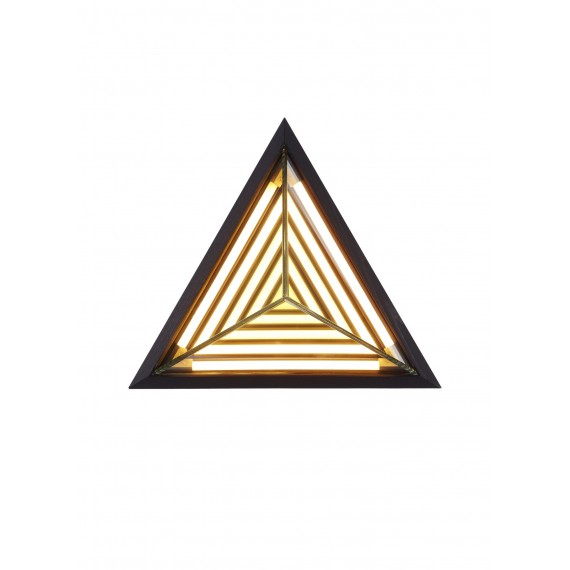 Stella Triangle LED Wall lamp Roll & Hill black color front view