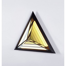 Stella Triangle LED Wall lamp Roll & Hill black color side view