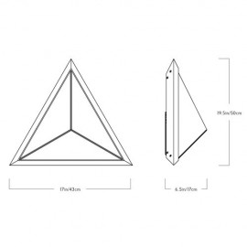 Stella Triangle LED Wall lamp Roll & Hill black color with detail